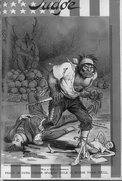 Рисунок 1. Кричащая иллюстрация Гранта Гамильтона в номере «Judge Magazine» за 1898 год.